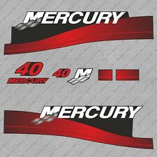 Mercury 40 hp Two Stroke outboard engine decals sticker set reproduction 40HP