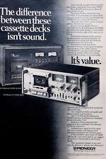 1978 Pioneer Nakamichi 1000II $1650 Pioneer CTF1000 $600 Vintage Photo Print Ad