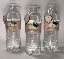 Water Bottle Labels. Gold princess