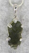 MOLDAVITE PENDANT $79 Tektite 925 Sterling Jewelry STARBORN CREATIONS MP79-S15