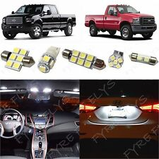 8 White LED lights interior package kit 1999-2010 Ford F250 F350 Super Duty FS1W