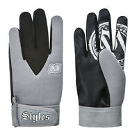 WWE AJ STYLES GREY REPLICA GLOVES OFFICIAL NEW