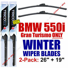 WINTER Wipers 2pk Prem Grade fit 2010-15 BMW 550i, Gran Turismo ONLY 35260/190