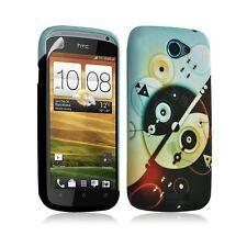 Housse coque étui gel pour HTC One S motif LM12+ Film protecteur