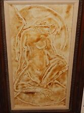 HAROLD C KIMBALL NUDE WOMAN MID CENTURY MODERN LARGE CANVAS PAINTING DATED 1969