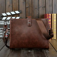 Men's Leather Shoulder Bag Messenger Crossbody Tablet Bags Handbag Satchel