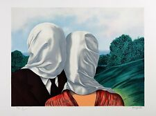 René Magritte - The Lovers (signed & numbered lithograph)