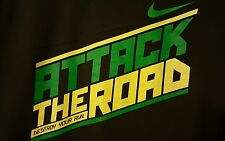 Nike PRE-OWNED Attack The Road Size XL Green/Yellow/Gray T-Shirt