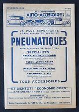 Brochure publicitaire 1928 PNEU AUTO-ACCESSOIRES Pirelli Dunlop moto automobilia