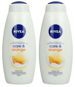 (Pack of 2) NIVEA CARE & ORANGE SHOWER GEL 750ML 25.36 FL OZ