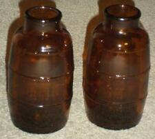 2 VINTAGE SCHMIDT BEER AMBER BARREL SHAPED BOTTLES, 14 OUNCES
