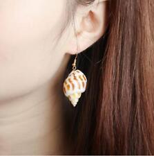 Womens Shell Hook Earrings Fashion Jewellery Trend Cool Nature Seashell Nautical