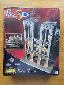 MB 3D Puzzle Notre Dame Cathedral 366 Pieces 2005 NEW Sealed