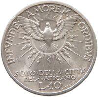 VATICAN 10 LIRE 1939 SEDE VACANTE TOP #t99 033