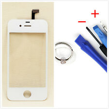 White Front Touch Screen Glass Digitizer+Tools for iPhone 4G 4S CDMA Replacement