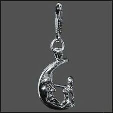 Moon Rider Fairy Two Sided Zipper Pull / Key Chain / Charm Made in the USA