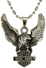 Stainless Steel Ride Free Winged Eagle Necklace