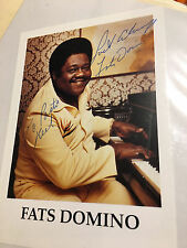 FATS DOMINO Signed Original Autographed Photo COA