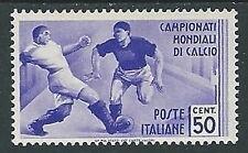 1934 REGNO MONDIALI DI CALCIO 50 CENT MH * - W265