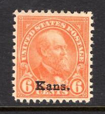 1¢ WONDER'S ~ US #664 BLK4 F-VF MH 6¢ KANSAS OVPT ~ O851