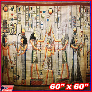 Wall Hanging Tapestry Decor Egyptian Pharaoh Mummy Meditation Bohemian Poster
