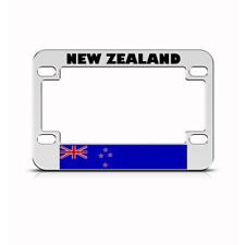 Metal Bike License Plate Frame New Zealand Flag Motorcycle Accessories Chrome