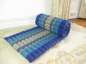 "Thai Kapok Mattress Roll Up Meditation Yoga Floor Mat Day Guest Bed Camping 65"""