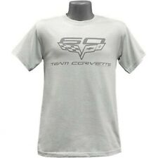 Chevrolet Corvette 60th Anniversary Team Tonal Mens Silver T-Shirt