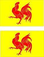 2x Adhesivo adesivi pegatina sticker vinilo bandera belgica valona