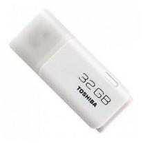 32 GB USB Flash Drive Memory Stick Pen Drive - White - Toshiba TransMemory #ict