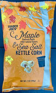 Trader Joe's MAPLE SEA SALT Kettle Popcorn ~LIMITED~ Choose 1, 2, 3, or 4 Bags!