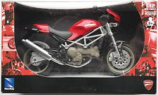 NEWRAY-DUCATI MONSTER s4 ROSSO 1:12 Nuovo/Scatola Originale MOTO MODELLO