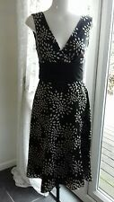 Ted Baker Dress Size 2 . Silk. Black and White.
