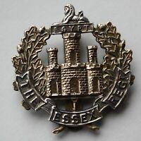 British Army, Essex Regiment Cap Badge. Braze Holes. J.R. GAUNT. LONDON