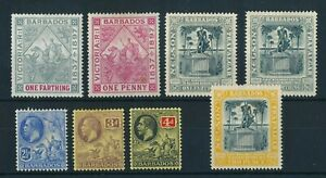 1897-1912 BARBADOS LOT 8 MINT STAMPS #81, 83, 102x2, 105, 120/122 !! C53