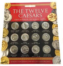 Ancient Roman Coin Replicas of Twelve Caesars Emperors Portraits Set