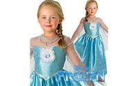 Childs Elsa Deluxe Costume, OFFICIAL Disney Frozen, Small, Medium & Large UK