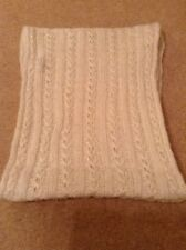 Ladies Snood Cream with Metallic Thread Crochet Pattern by NEW LOOK NEW NO TAGS