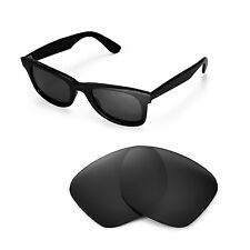 New Walleva Polarized Black Lenses For Ray-Ban Wayfarer RB2140 50mm