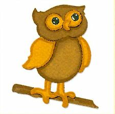 Sizzlits Owl with Branch die #655472 Retail $7.99 RETIRED, RARE FUN!!