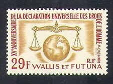 Wallis & Futuna 1963 Human Rights/UN/Scales/Globe/Animation 1v (n37470)
