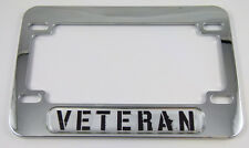 Veteran War Motorcycle Bike plastic ABS Chrome Plated License Plate Frame Dome