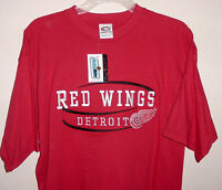 Detroit Red Wings T-shirt Large NHL Red Cool Embroidered Logos