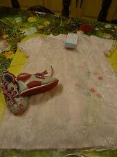 neufs !!!!9mois adorable robe surbrodée   +chaussures assorties =bella ,raynal ?