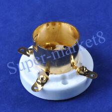 2pcs 2A3 300B 274A 4Pin Ceramic Tube Socket Gold S4U