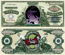 Capricorn Zodiac Million Dollar Bill Fake Funny Money Novelty Note +FREE SLEEVE