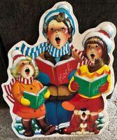 "Rare Vintage Noma Decor Lites Christmas Carolers Blow Mold 36"""
