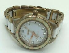 DKNY Chambers Rose Gold White Ceramic White Dial Women's Watch NY8500  (182E)