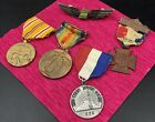4+Antique+Medals+1+Military+Pin+Space+Race+1969%2C+Woman%E2%80%99s+Corp+1883%2C+Great+War
