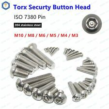 M3 M4 M5 M6 M8 M10 Pin Tamper Torx Security Button Head Screw Bolt 304 Stainless